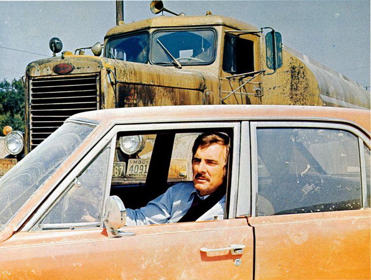 Dennis Weaver als David Mann in 'Duel'. Beeld Cineliz / AllPix