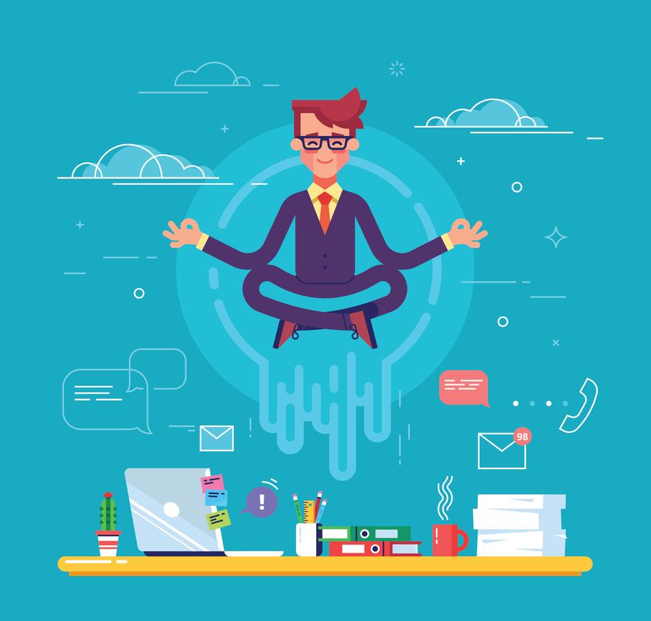 Yoga en mindfulness kunnen mensen meer grip geven op werkdruk en stress.