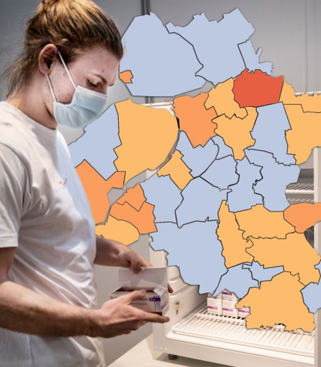 KAART   Weinig nieuwe besmettingen in Oost-Nederland: slechts één gemeente kleurt oranje