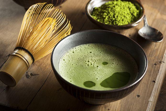 Groene matcha-thee