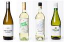 Van l naar r: Viré-Clessé, Corto di Passo Inzolia Terre Siciliane, Best of our Planet Chenin Blanc Bio en Vina Sol