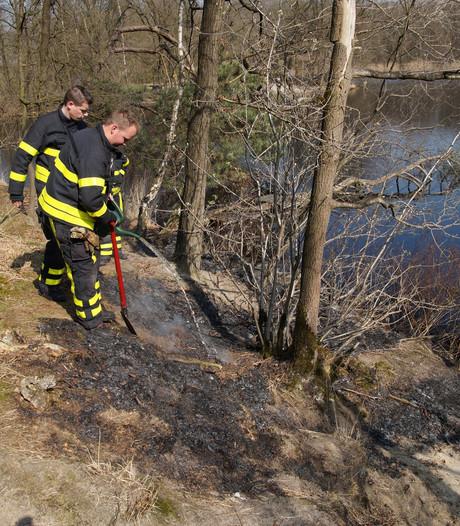 Brandje in bos bij Waalwijk is mogelijk aangestoken