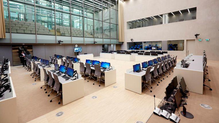 De rechtszaal van het internationaal strafhof in Den Haag. Beeld ANP