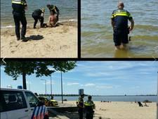 Politie praat verwarde man met mes uit het water in Bergen op Zoom