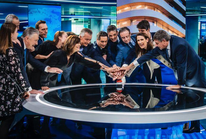 Eerste uitzending VTM NIEUWS vanuit Antwerpen