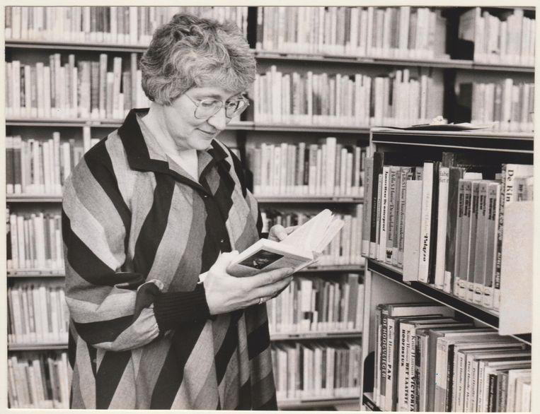 Als bibliothecaris in 1987. Beeld