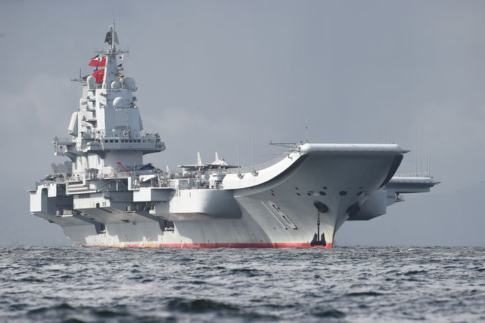 A Chinese aircraft carrier.