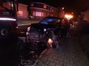 De materiële schade was groot, maar er vielen geen gewonden.