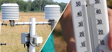 Zo werd het hitterecord van 40,2 graden gemeten in Twente