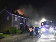 Dak huis ingestort door brand in Doorwerth