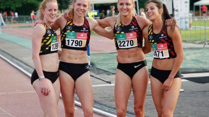 Belgische 4x400m-vrouwenploeg sloopt 38 jaar oud Belgisch record en mag naar EK