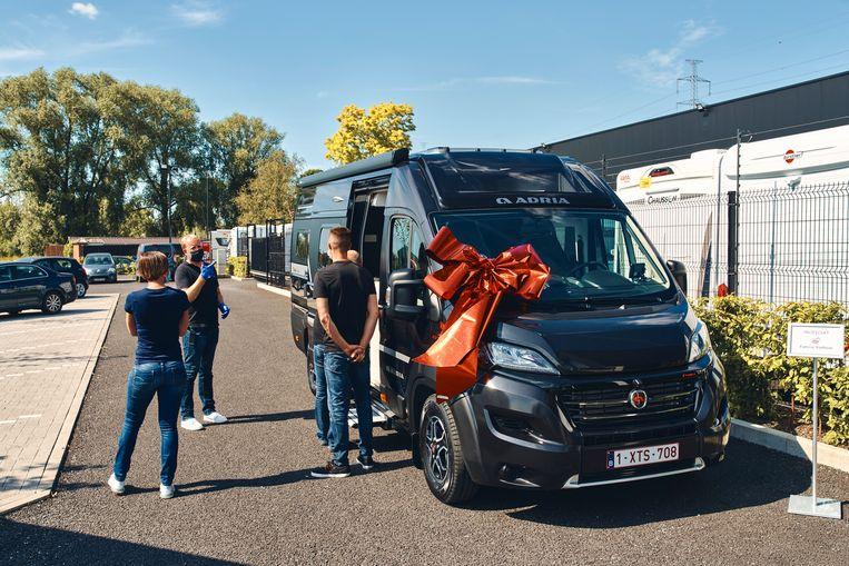 Vanomobil in het West-Vlaamse Deerlijk verkoopt en verhuurt mobilhomes. Beeld Thomas Nolf
