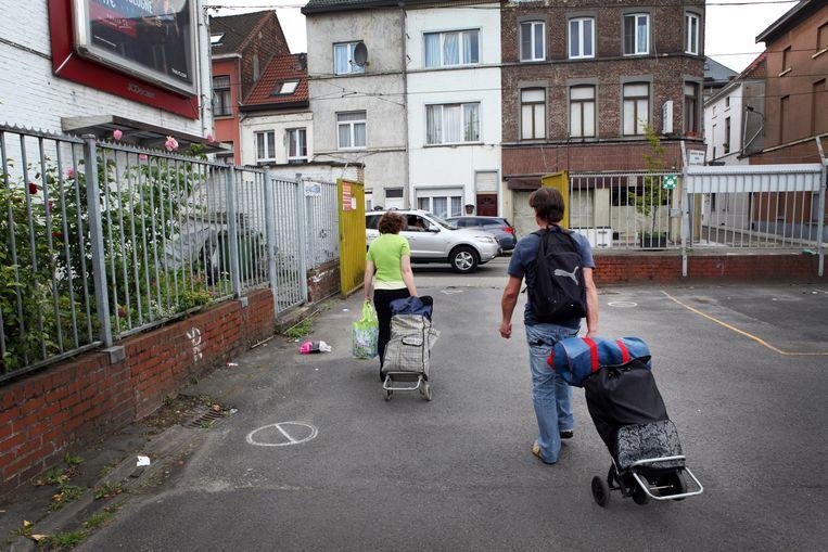 Actie van Caritas tegen armoede in Gent (archiefbeeld). Beeld Photo News