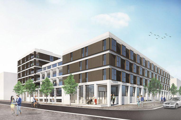 Een impressie van toekomstig woonzorgcentrum Hanswijk in Mechelen..