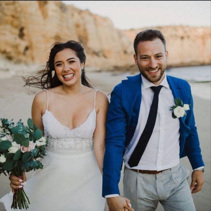 Caroline Crouch en haar echtgenoot.