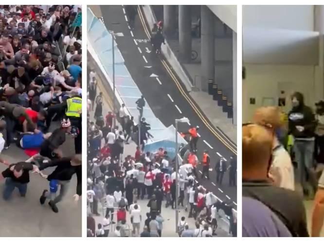 'Shame on you': Engelse fans dringen Wembley binnen en overlopen stewards, tientallen arrestaties en 19 agenten gewond na finale