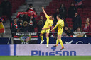 Christian Stuani viert de 2-1 van Girona.