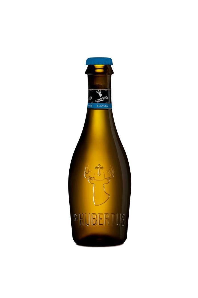 La bière blonde St Hubertus.