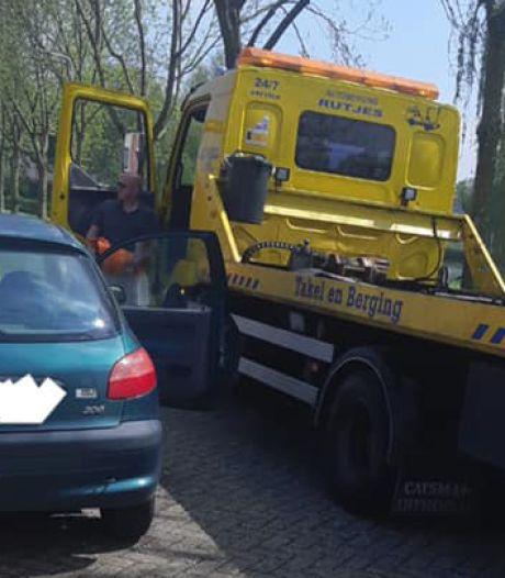 Doesburger blijft maar de fout in gaan: Da's pech, auto weg