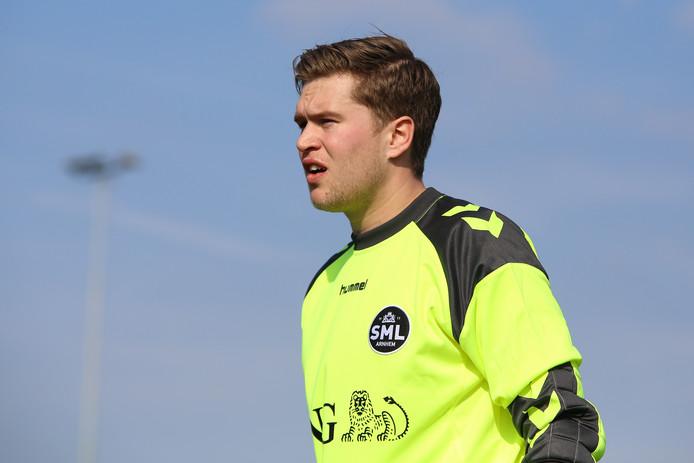 Stefan Reijnders, hier nog in het shirt van SML, maakte in het bekerduel bij Groen Wit'62 zijn debuut voor Duno.