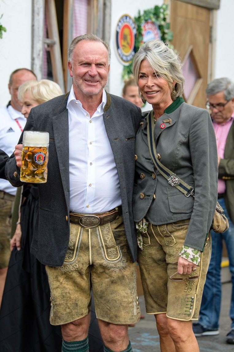 CEO Karl-Heinz Rummenigge met vrouw Martina.