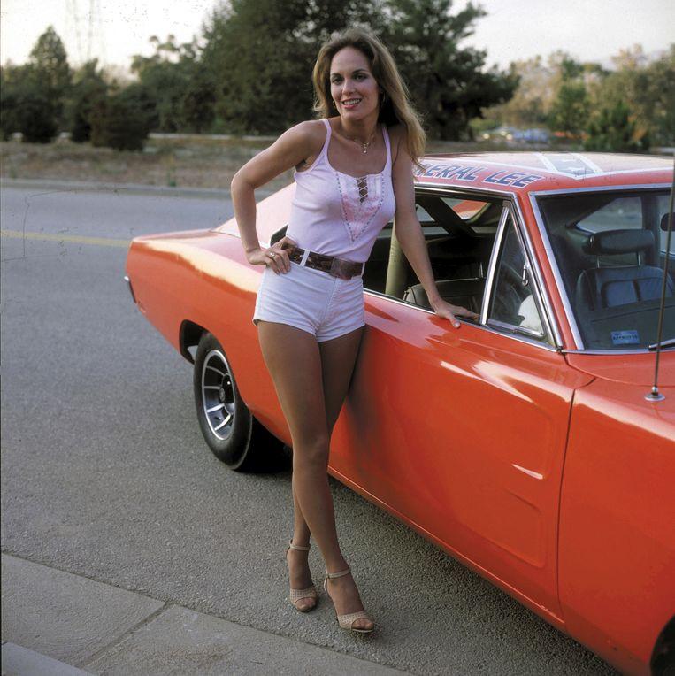 Actrice Catherine Bach werd in de jaren '70 de postergirl van de hotpants.  Beeld Photo12