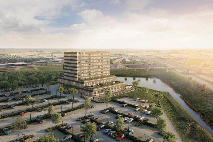 Zo moet Van der Valk Hotel Delft langs de A4  eruit gaan zien.