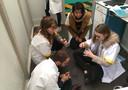 Leerlingen werken aan een opdracht in de escaperoom