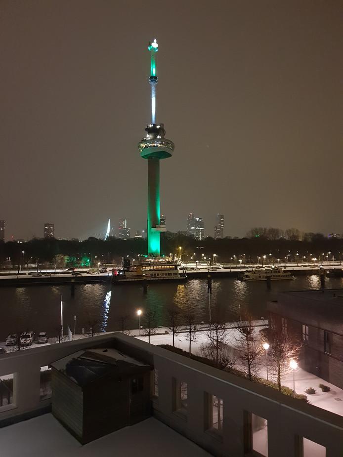 Een echt Rotterdams plaatje. Groen én wit.