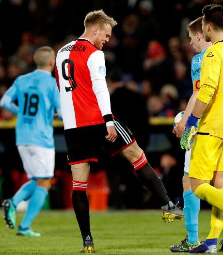 Feyenoord twee duels zonder Jørgensen, hij mist wedstrijd tegen NAC