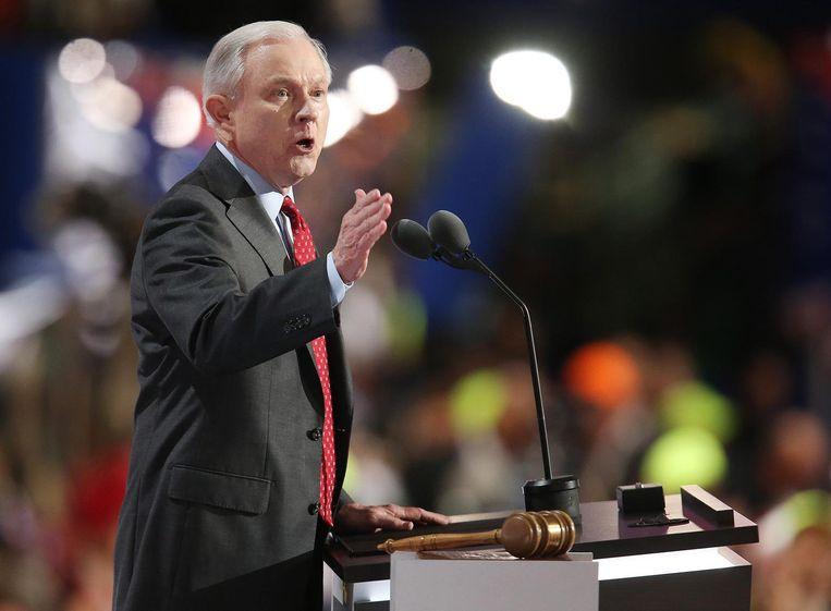 De mogelijke minister van Defensie, Jeff Sessions. Beeld epa