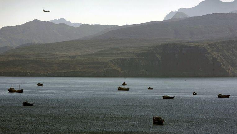 Tankers in de Perzische Golf Beeld ap
