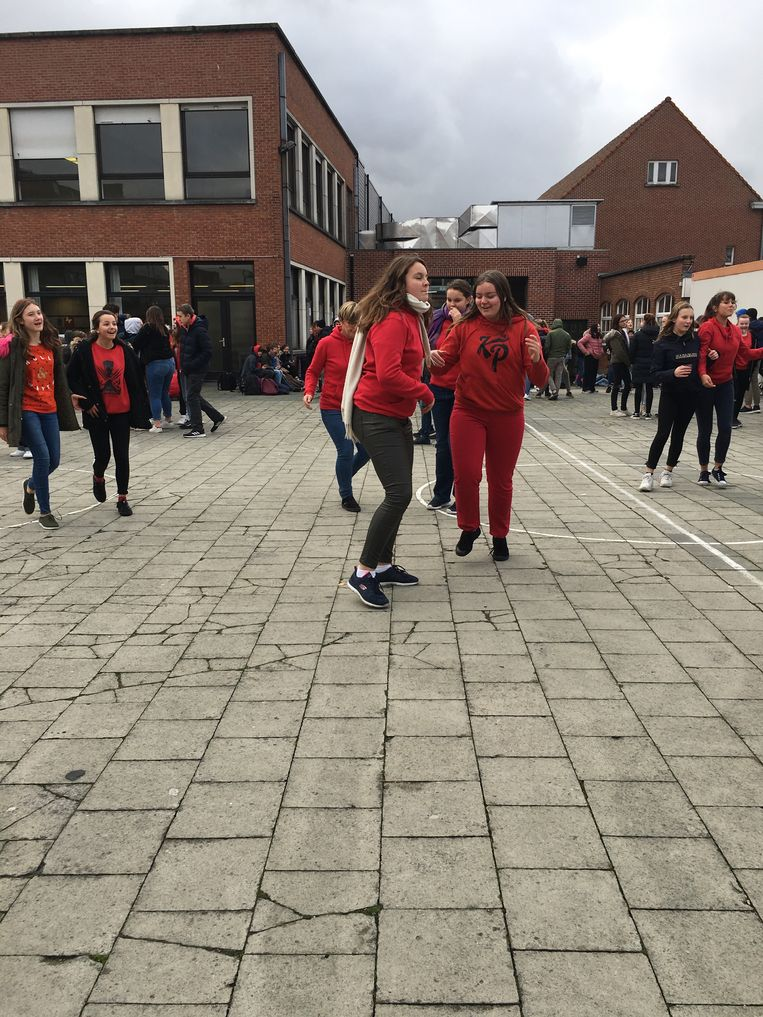Rood was ook in Zwevegem de kleur van de dag.