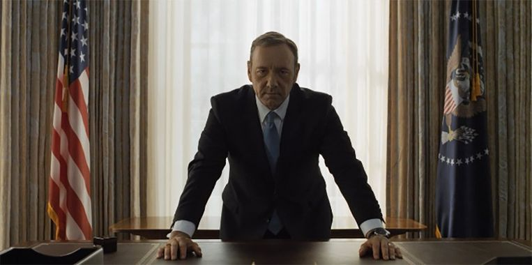 Kevin Spacey als Frank Underwood in 'House of Cards' Beeld Netflix