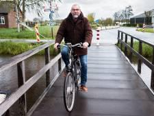 Bewoners van Kanis: 'Laat die tijdelijke fietsbrug maar lekker liggen, veel veiliger zo'