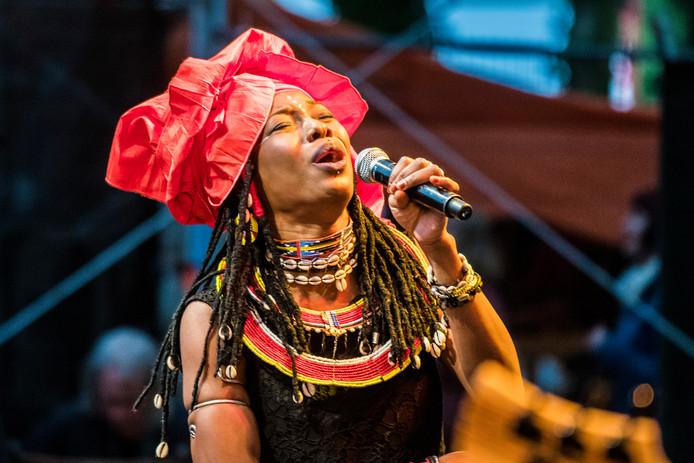 Fatoumata Diawara is de hoofdact van het Afrika Festival.