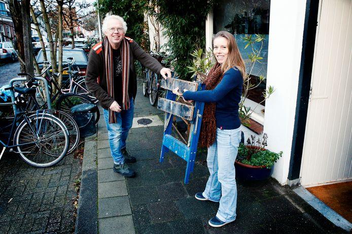 Loog Landaal en Marije van der Nat lenen regelmatig spullen van elkaar
