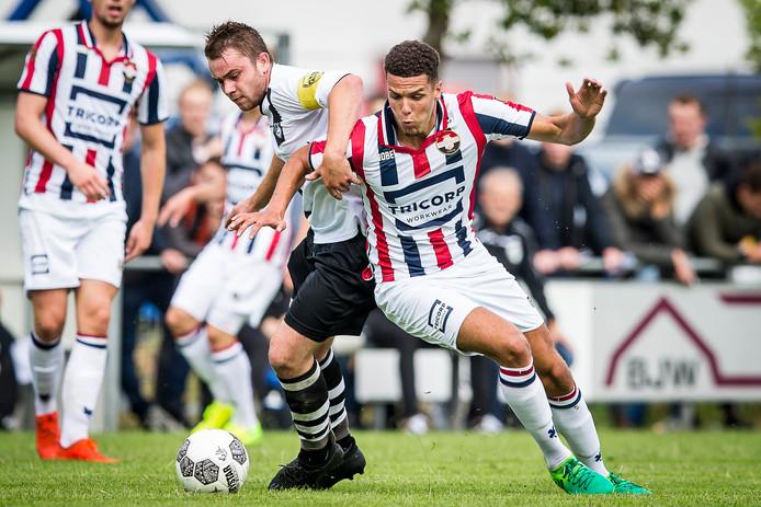 Willem II-testspeler Karim Rossi speelde vorig seizoen op sportpark de Alsie een helft tegen de Diessense selectie.