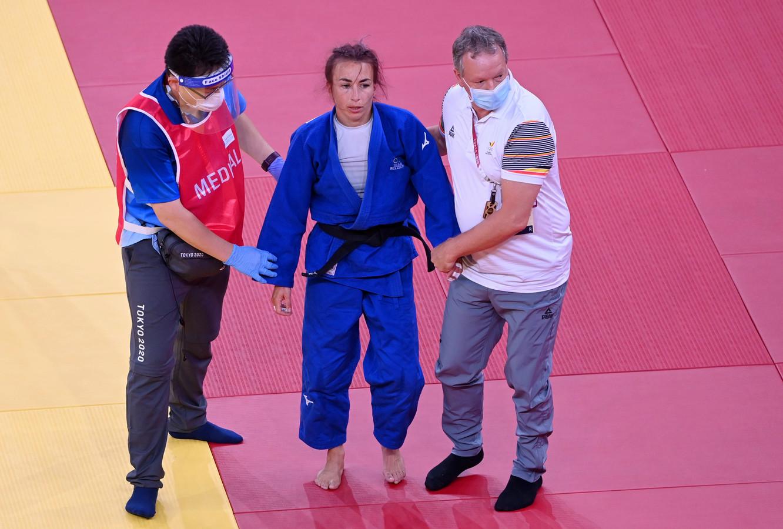 Van Snick was aangeslagen na haar nederlaag.
