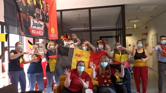 De bewoners en het personeel van wzc Sint-Remigius halen alles uit de kast voor de Rode Duivels