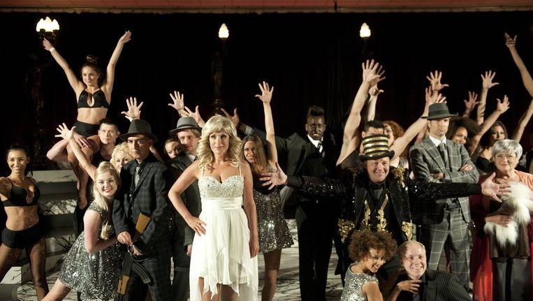De cast van de musical Yab Yum. Beeld anp