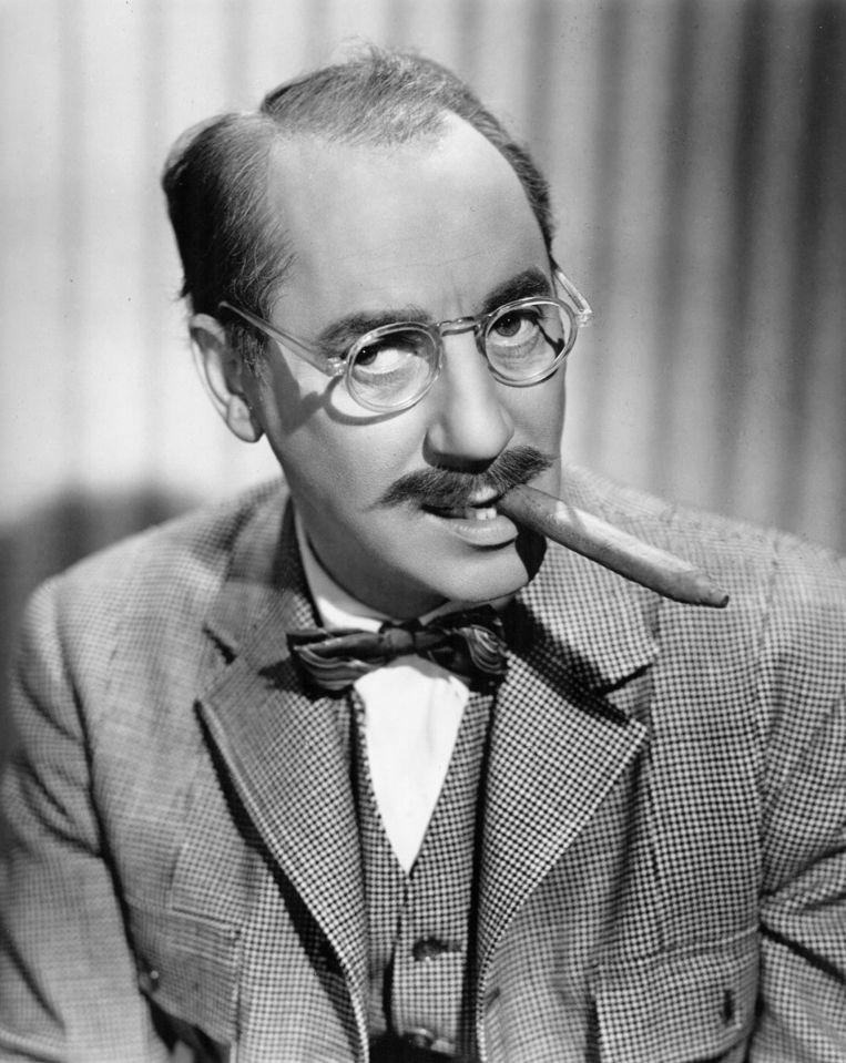 Groucho Marx, vandaag 128 jaar geleden geboren. Beeld rv
