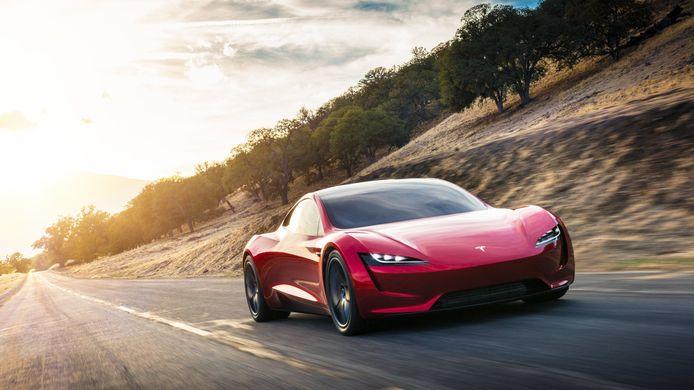 Beeld ter illustratie. De Tesla Roadster
