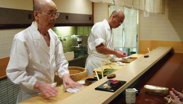 Still uit Jiro, Dreams of Sushi. Beeld .