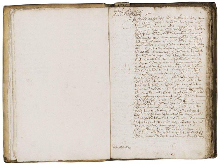 Het testament van Peter Stuyvesant Beeld Stadsarchief Amsterdam