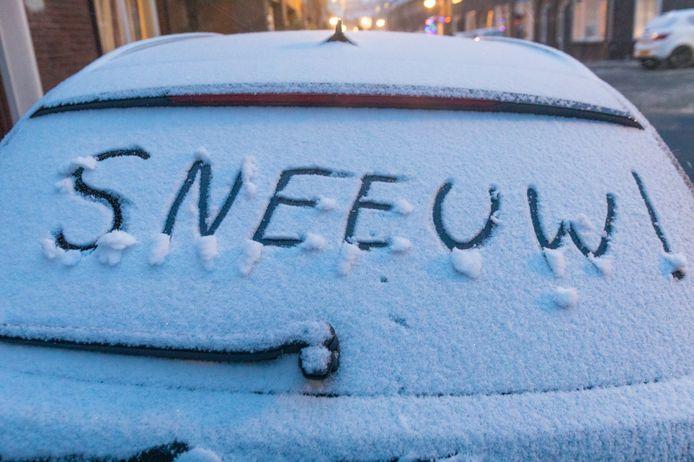 Sneeuw in Eindhoven.