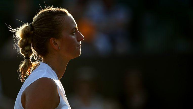 Kvitova mag meteen inpakken. Beeld getty