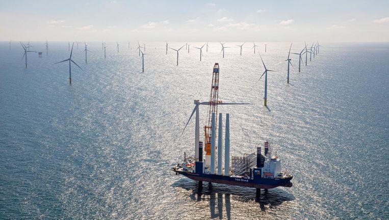 Het windpark Gemini, 55 kilometer boven Ameland. Beeld