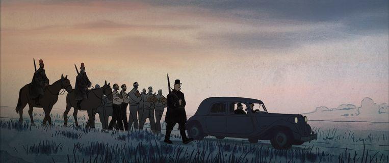 'Josep' toont hoe Spanjaarden op de vlucht voor Franco in Franse concentratiekampen terechtkwamen.  Beeld rv