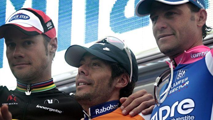Alessandro Petacchi (à droite), s'est classé 3e du dernier Milan-Sanremo.